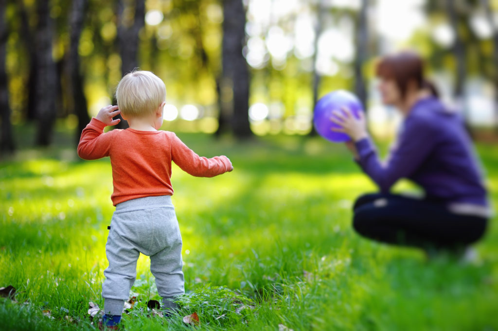 Babysitting, childcare and nanny service by MyHotelSitter - photo of child playing catch outside